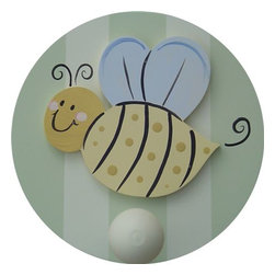 Wish Upon A Star - On Sale Bee Wall Peg - Set of Two - Bee Wall Peg - Set of Two