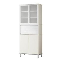 IKEA of Sweden/K Malmvall/E Lilja-Löwenhielm - EFFEKTIV Storage combination with doors - Storage combination with doors, white, glass