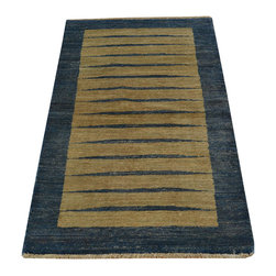 1800GetARug - Modern Gabbeh Striped 100% Wool Hand Knotted Oriental Rug Sh14698 - Our Modern & Contemporary collection contains some of the latest designs in the industry. The range includes geometric, transitional, abstract, and modern designs; from the Tibetans to the Gabbeh. We offer an entire line of contemporary designs, whether you're searching for sophisticated and muted to the vibrant and bold.