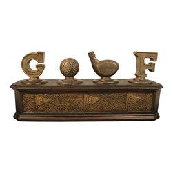 Sterling Industries - Golf Lovers Box - Golf Lovers Box Decor by Sterling Industries