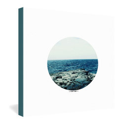DENY Designs - Leah Flores Ocean Blue Gallery Wrapped Canvas - There's just no substitute for the ocean. Leah Flores' photo print offers you a porthole window view of calm blue waters, surrounded by simple white and transferred onto canvas for a minimalist, modern presentation. Hang it on your wall and let your thoughts drift away with the tide.