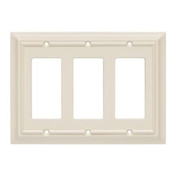 Liberty Hardware - Liberty Hardware 126451 Wood Architectural WP Collect 5.51 Inch Switch Plate - L - A simple change can make a huge impact on the look and feel of any room. Change out your old wall plates and give any room a brand new feel. Experience the look of a quality Liberty Hardware wall plate.. Width - 5.51 Inch,Height - 7 Inch,Projection - 0.4 Inch,Finish - Light Almond,Weight - 0.26 Lbs