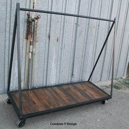 Clothing Rack, Garment Rack, Vintage Industrial/Mid Century Modern. Loft, Urban -