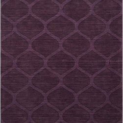 "Surya - Surya Mystique M-5119 (Prune Purple) 5' x 8' Rug - Combining centuries old ""hand looming"" techniques with the finest colors, we have created these crisp and casual designs. Handcrafted in India from 100% wool, teams of craftsmen work traditional shuttle looms to create these unique rugs. Each piece is then painstakingly hand finished, hand carved and detailed."