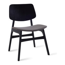 Bryght - Margo Paloma Fabric Black Dining Chair - A throwback to the 60s, the Margo dining chair brings character to a space with its sleek retro lines. Choose from a wide variety of upholstery options.