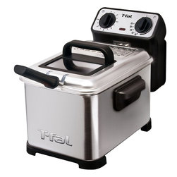 T-Fal/Wearever - T-Fal Family Pro Fryer - T-Fal Family Pro Fryer with adjustable thermostat, cool touch handles, two position basket, 2.6 lbs food capacity, 3L of oil, dishwasher safe except heating element, folding basket handle, Stainless Steel brushed waffle finish, view window on lid, temp ready light.