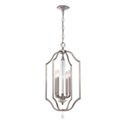 Crystorama Lighting Group - Crystorama Lighting Group 2235 Hugo 4 Light Candle Style Pendant - Features: