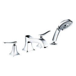 Hansgrohe - Hansgrohe 31314821 Metris Bathtub Trim - Trim, 4-Hole Roman Bathtub Set
