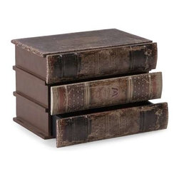 Mayland Storage Box with Drawers - The faux stacked books open to reveal drawers, great for storing small items! Easily pairs with any library or masculine juvenile decor!