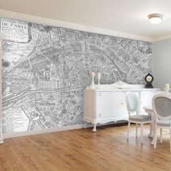 Swag Paper - Swag Paper Map of 1705 Huitieme plan de Paris Self-Adhesive Wallpaper - MPARISBW - Shop for Wallpaper from Hayneedle.com! A historical romance played out on your wall the Swag Paper Map of 1705 Huitieme plan de Paris Self-Adhesive Wallpaper lets you tell a story without saying a word. This stunning wallpaper design is a beautiful reproduction of map maker Nicholas de Fer's 1705 map of Huitieme plan de Paris (8th map of Paris). Breathtaking in its scale and authenticity this map creates the mood in your home. It comes in your choice of available colors and sizes. The Tools You'll Need: Tape measure Sponge Straight edge Level (optional) Utility knife or razor blade Plastic smoother (a credit card also works) Step stool or ladder Easy Installation Instructions: Measure the width of your wall in feet Divided the width by 2 to find the number of panels you'll need Peel backing by about 8 to 12 inches and apply to wall Smooth over Keep pulling the backing away in 8- to 12-inch increments Trim off the excess material Overlap panels by 1 inch to match patterns Create a butt seam by cutting the top overlapping layer of wallpaper removing it and smoothing over Swag Paper - Empowering the Do-It-Yourselfer:Forget the paste the crinkles and cutting rolls of wallpaper to make the patterns match. Dave and Daniela Fields a brother-and-sister team developed Swag Paper for Do-It-Yourselfers with high aspirations and little time. Their adhesive-backed panels apply in a fraction of the time it takes to apply traditional wallpaper and all you really need in the way of tools is a tape measure sponge straight edge utility knife and credit card. Swag Paper is removable non-destructive and residue free making it the go-to solution for renters with big decorating plans. About Swag Paper s Vintage Maps CollectionWith their Vintage Maps Collection the style experts at Swag Paper have designed an amazing new way to create a show-stopping space. This collection includes original hand-drawn and charted historical maps that range from the early 1700s to 1900s. Any imperfections have been digitally corrected to provide the best visual quality while keeping the authentic appeal of the map. Like all Swag Paper wallpapers the Vintage Maps Collection is a breeze to apply remove and reapply at will. Choose from a wide variety of colors and maps including world atlas states hemispheres and a variety of city designs.