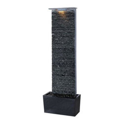 Kenroy - Kenroy-50252GYSL-Bedrock Falls Floor Fountain - Indoor or Outdoor Rated.