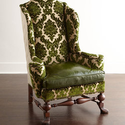 Old Hickory Tannery Maddie Damask Wing Chair -