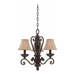 Triarch International - Triarch 31448 Jewelry Harvest Bronze 3 Light Chandelier - Triarch 31448 Jewelry Harvest Bronze 3 Light Chandelier