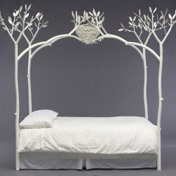 White Tree Bed - This is the perfect bed for an enchanted forest fantasy. The perfect room for it would have a white plank floor, winter-white matte walls and lots of floor-to-ceiling windows with tree-filled scenery so that you'd feel as if you were indeed sleeping in the forest. The ultimate finishing touch would have to be a soft, days-on-end snowfall.