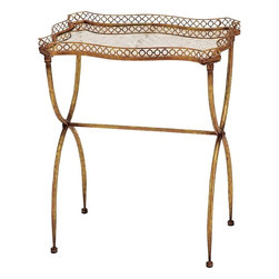 Benzara - Metal Tea Table in Deep Golden Shade and Versatile Style - Brandishing an ornate classic design, this metal tea table is an excellent choice of accessory for incorporating in traditional settings. This elegant table not only helps to accent interior aesthetics but even offers functional use to make it suitable for all kinds of settings. Perfect for placing in the corners of rooms, this tea table can complement living rooms and dining room aesthetics perfectly. It has a deep golden shade that makes versatile in style so it can blend in with all kinds of decors. This excellently designed table features a sturdy and long lasting build as it is made from high quality metal. The table is designed with a uniquely styled top and has cross legs to give the overall style a more distinctive appearance. You can also consider gifting this table to your near and dear ones.