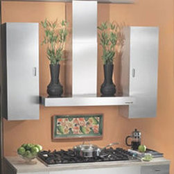 Broan - Broan Elite Stainless 36-inch Chimney Wall Hood - Chimney wall hood has a brushed stainless steel finishAppliance features a 370 cfm blowerChimney wall hood has a heat sentry that detects excessive heat and adjusts blower speed to high automatically