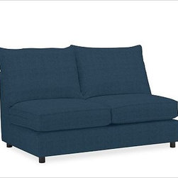 PB Comfort Roll Arm Upholstered SectionalArmless Loveseat Knife-EdgeUpholsteredB - Built by our own master upholsterers in the heart of North Carolina, our PB Comfort Upholstered Sectional Components are designed for unparalleled comfort with deep seats and three layers of padding. {{link path='pages/popups/PB-FG-Comfort-Roll-Arm-4.html' class='popup' width='720' height='800'}}View the dimension diagram for more information{{/link}}. {{link path='pages/popups/PB-FG-Comfort-Roll-Arm-6.html' class='popup' width='720' height='800'}}The fit & measuring guide should be read prior to placing your order{{/link}}. Choose polyester wrapped cushions for a tailored and neat look, or down-blend for a casual and relaxed look. Choice of knife-edged or box-style back cushions. Proudly made in America, {{link path='/stylehouse/videos/videos/pbq_v36_rel.html?cm_sp=Video_PIP-_-PBQUALITY-_-SUTTER_STREET' class='popup' width='950' height='300'}}view video{{/link}}. For shipping and return information, click on the shipping tab. When making your selection, see the Quick Ship and Special Order fabrics below. {{link path='pages/popups/PB-FG-Comfort-Roll-Arm-7.html' class='popup' width='720' height='800'}} Additional fabrics not shown below can be seen here{{/link}}. Please call 1.888.779.5176 to place your order for these additional fabrics.