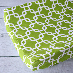 Caden Lane - Bright Baby Green Changing Pad Cover - Bright Baby Green Changing Pad Cover