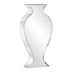 Howard Elliott - Howard Elliott Rounded Mirrored Vase - Tall - Rounded Mirrored Vase - Tall.