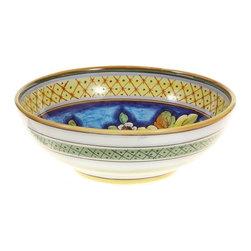 """Ceramic - Deruta Fruit 12"""" Ceramic Bowl - Deruta Fruit 12"""" Ceramic Bowl"""