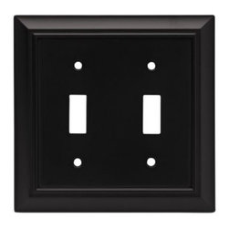 Liberty Hardware - Liberty Hardware 64217 Architectural WP Collection 4.96 Inch Switch Plate - A simple change can make a huge impact on the look and feel of any room. Change out your old wall plates and give any room a brand new feel. Experience the look of a quality Liberty Hardware wall plate. Width - 4.96 Inch, Height - 4.9 Inch, Projection - 0.2 Inch, Finish - Flat Black, Weight - 0.46 Lbs.
