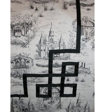 Toile shower curtain