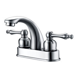 Dyconn Faucet - Dyconn Faucet Huntington Polished Chrome Centerset Bathroom Faucet - Upgrading your bathroom is easy with the Dyconn Huntington Polished Chrome Centerset Bathroom Faucet. The elongated spout makes this design classy and facilities usage. Whether your decorating style is traditional or modern, the Dyconn Centerset Bathroom Faucet will compliment your home and add a luxurious look to your bathroom. All of our faucets comes with a 3-year manufacturer warranty. Package includes faucet, two lever handles, hot & cold water hoses, mounting hardware, and installation instructions.