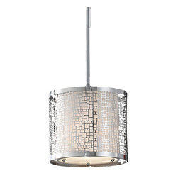"""Murray Feiss - Murray Feiss P1218CH Chrome Joplin Joplin 1 Light Mini Pendant with - Features:Material: Stainless SteelOff White Linen ShadeSpecifications:Number of Bulbs: 1Bulb Base: Medium (E26)Bulb Type: IncandescentBulb Included: NoWatts Per Bulb: 100Wattage: 100Voltage: 120Height: 8""""Diameter: 8""""Canopy Diameter: 5""""Backplate Diameter: 5""""Wire Length: 180""""Energy Star: NoUL Listed: YesUL Rating: Dry LocationIncludes three 12 inch and one 6 inch stems for installation at different hanging heights"""