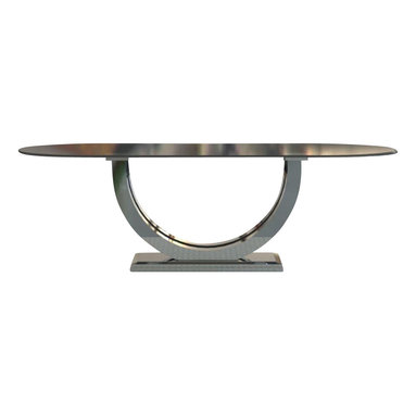Woodcraft - Metro Chrome + Oval Top Table, 48x96 - The ultimate sleek modern table.  We spared no ground with this design.  The best of both worlds but combining them in such a way that fit perfectly in harmony.
