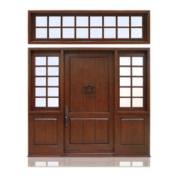 "Old World Collection | 2981 - Species: Knotty Alder, Distress: Tuscany, Iron Work: Black,  Hinges: 4.-5"" Ball Bering Hinges ORB, Exterior Door"