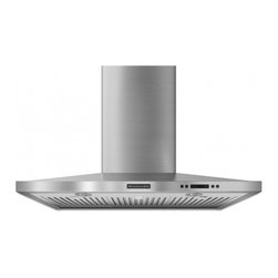 """KitchenAid - Architect Series II KXW4336YSS 36"""" Wall-Mount Canopy Hood with 600 CFM Internal - The KXW43 wall mount range hood comes with a four speed 600 CFM internal blower providing enough ventilation to remove any cooking odors from your kitchen The baffle filters are dishwasher safe making them easy to clean and maintain"""