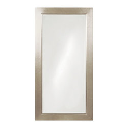 Howard Elliott - Millennium Silver Mirror - Large - This Contemporary mirror features a simple, rectangular oversized wooden frame finished in a handsome silver leaf.