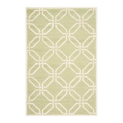 Safavieh - Carole Hand Tufted Rug, Lime / Ivory 4' X 6' - Construction Method: Hand Tufted. Country of Origin: India. Care Instructions: Vacuum Regularly To Prevent Dust And Crumbs From Settling Into The Roots Of The Fibers. Avoid Direct And Continuous Exposure To Sunlight. Use Rug Protectors Under The Legs Of Heavy Furniture To Avoid Flattening Piles. Do Not Pull Loose Ends; Clip Them With Scissors To Remove. Turn Carpet Occasionally To Equalize Wear. Remove Spills Immediately. Bring classic style to your bedroom, living room, or home office with a richly-dimensional Safavieh Cambridge Rug. Artfully hand-tufted, these plush wool area rugs are crafted with plush and loop textures to highlight timeless motifs updated for today's homes in fashion colors.