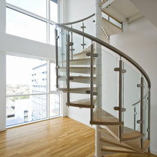 Contemporary Staircase by First Impression Security Doors