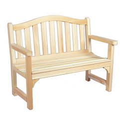 Rustic Natural Cedar - Rustic Natural Cedar 050506C Camel Back Outdoor Settee - Our elegantly styled camel back settee is designed with an arched back and deep seating for a relaxed fit and maximum comfort. The sturdy cedar construction ensures beauty and years of carefree use. Cedar is naturally resistant to decay, insect, and weather damage and, when left untreated, the creamy natural color weathers gracefully to a silvery grey.