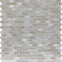 "Glass Tile Oasis - Biscuit Shimmer 1/2"" x 1"" Cream/Beige Pool Frosted Glass - Sheet size:  1.11 Sq. Ft.   Tile Size:  1/2"" x 1""   Tiles per sheet:  288    Tile thickness:  1/4""   Grout Joints:  1/8""   Recycled Components:  70   Sheet Mount:  Paper Face    Sold by the sheet    - Brilliant transparent glass combed through with coordinating opaque colors  and featuring a contemporary smooth-edge. Each piece is hand-poured and unique  designed with a certain amount of variation and variegation of color  tone  texture and shade for a distinctive appearance. Our handmade process incorporates creases  wrinkles  waves  bubbles and other surface effects indicative of handmade glass  all designed to capture light and enhance the final beauty of the project."