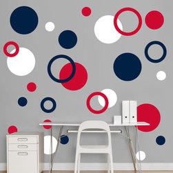 Fathead - Fathead Vinyl Wall Graphic - Red, White, Blue Polka Dots