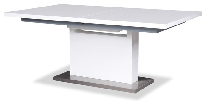 Contemporary Dining Tables Adam White Dining room Table