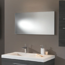 Ambiance Bain - Mica Small Mirror | Ambiance Bain - Made in France by Ambiance Bain.The no-nonsense design of the Mica Small Mirror adds minimalistic charm to luxury bath spaces. This beautifully crafted mirror promises to visually expand master bathrooms while delivering a crystal clear reflection with minimal glare. Select from a variety of sizes that will fit well in bathrooms of any size. Also available in a large version.Product Features: