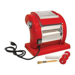 Weston Roma Express Electric Pasta Machine - Entertaining takes on a whole new meaning of perfection with the Weston Roma Express Electric Pasta Machine. Now you can make restaurant-quality pasta in your very own kitchen. Guests love fettuccine? Family loves spaghetti? You prefer lasagna? Guess what? You can all have what you want. Nine adjustable settings allow you to create pasta ranging from a tenth of an inch thin to thick delicious fettuccine noodles. A speed control allows to move between fast and slow functions and an adjustable wheel cutter and cleaning brush make it easy to operate from start to clean up. Did we mention the built-in safety switch that cuts power to the motor if the cover is opened? All you want and more - this pasta machine has you covered.About WestonDedicated to every aspect of the food chain Weston gives customers what they want and what they need. From house ware products to specialized tools Weston understands that food is the most important element of our lives. That's why Weston commits itself to the preservation of nutritional value efficient output and quality products. If you want the best in home food equipment look no further than Weston.