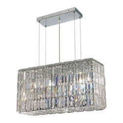 Lighting By Pecaso - Chantal Hanging Fixture L26 W9 H13 Lt:8 Chrome Finish - ChainWire Incuded  6 ft, Bulb Type E12, Bulb Wattage 60, Max Wattage 480, Voltage 110V125V, Finish Chrome, UL  Ulc Standard  YES, UL  Ulc Standard  YES