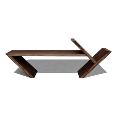 Same Tree - The Angle Table, Black Walnut - A table for more than coffee.