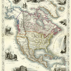 North America Map United States of America USA by SigningStar