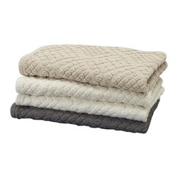 "Coyuchi - Air Weight Bath Rug 21""x34"" Slate - Our all-cotton bath rug is generously sized, with a raised-loop pile that feels great on bare feet, yet it's lightweight enough to toss in the regular wash."