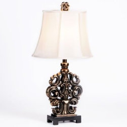 """Scroll Table Lamp - # Table lamp measures 28""""H"""
