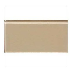 Design For Less - 3x6 Champagne Tan Subway Glass Backsplash Tile - Soft tan Champagne Toast Glass Subway Tile in a 3x6 size and 3/8 inches thick is perfect for brightening any space, this is the ideal tile for a backsplash, kitchen tile or bathroom tile. Each piece is 3x6 and there are 8 pieces per square foot. Price is per SQUARE FOOT.