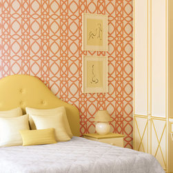 Stencil Ease - Chestnut Hill Filigree Wall Painting Stencil - This designer Chestnut Hill Filigree stencil is exuding style! This detailed, laser-cut stencil is a professional designer's dream along with our production size stencils with additional repeats for the painting team. Our laser-cutting produces crisp, clean smooth edges. We suggest you visit your local paint store for color ideas using contrasting colors or even trying a semi-gloss urethane (over a previously painted/stained surface) for a subtle effect.