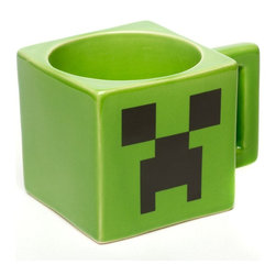 Official Licensed Minecraft Creeper Face Mug - I know my kids would love to get their last drink of water at bedtime in this creeper mug.