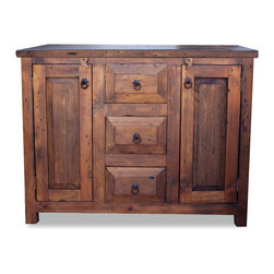 FoxDen Decor - 3 Drawer Reclaimed Wood Vanity, 48x20x32 - A gorgeous ...