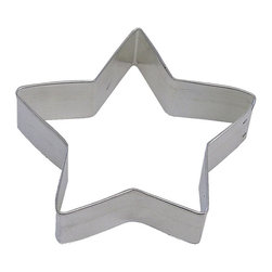 RM - Star 4.5 In. B1082X - Star cookie cutter, made of sturdy tin, Size 4.5 in., Depth 7/8 in., Color silver.